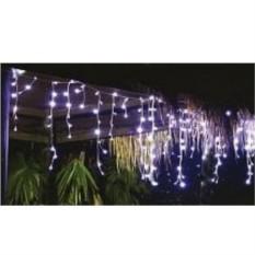 Уличная гирлянда Мерцающие сосульки 100 белых LED-ламп