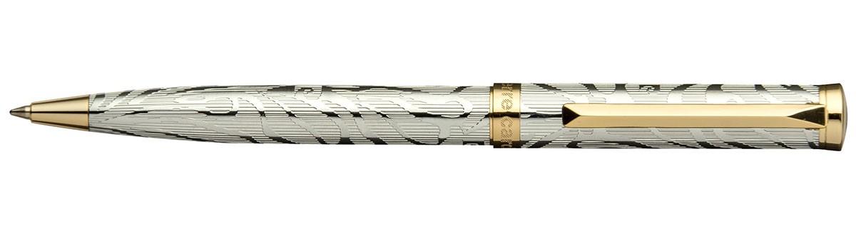 Хромовая шариковая ручка с рисунком Pierre Cardin Evolution