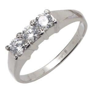 Кольцо с 3-мя бриллиантами