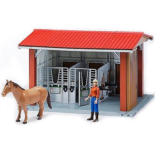 Конюшня Bruder с всадницей и лошадью