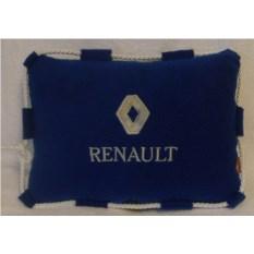 Темно-синяя подушка со шнуром Renault