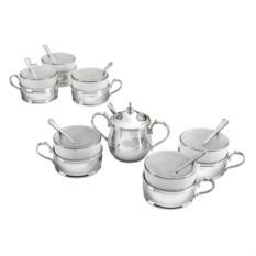 Чайный сервиз Элегантная классика, серебро, на 6 персон