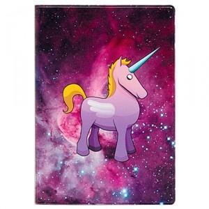 Обложка для паспорта Cosmic unicorn