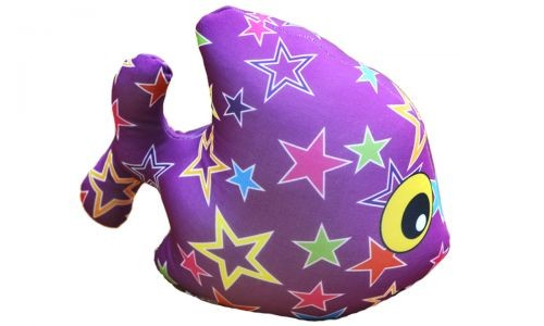 Подушка Рыбка, фиолетовая