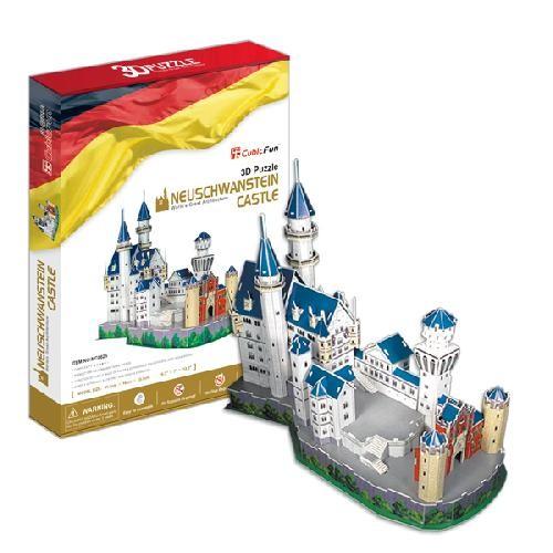 Модель для сборки Замок Нойшванштайн Cubic Fun