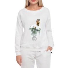 Белый женский свитшот Ronaldo