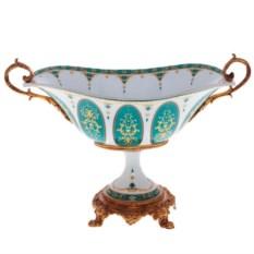 Большая фарфоровая ваза для фруктов
