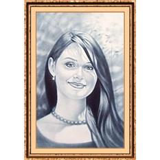 Портрет по фото на заказ А4 черно-белый (только лицо)