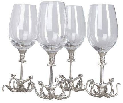Набор из 4 бокалов для вина Sea life