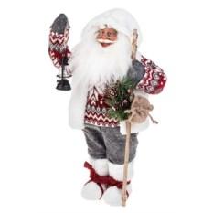 Новогоднее украшение Дед Мороз с посохом и фонариком
