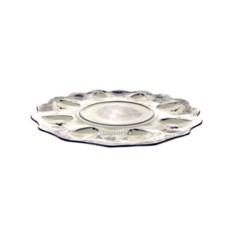 Тарелка для яиц Пасхальница с росписью гжель