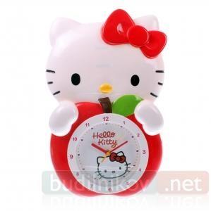Часы настенные детские Hello Kitty Яблоко с маятником