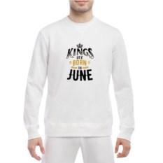 Мужской свитшот King are born in june