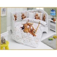 Детский комплект в кровать с бортиками V5