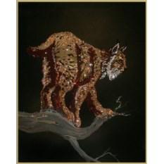 Картина с кристаллами Swarovski Рысь
