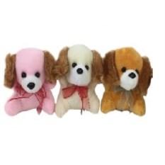Мягкая игрушка-брелок Собачка с бантиком, высота 7 см