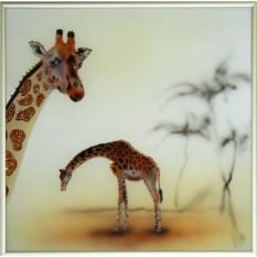 Картина с кристаллами Swarovski Жираф-1