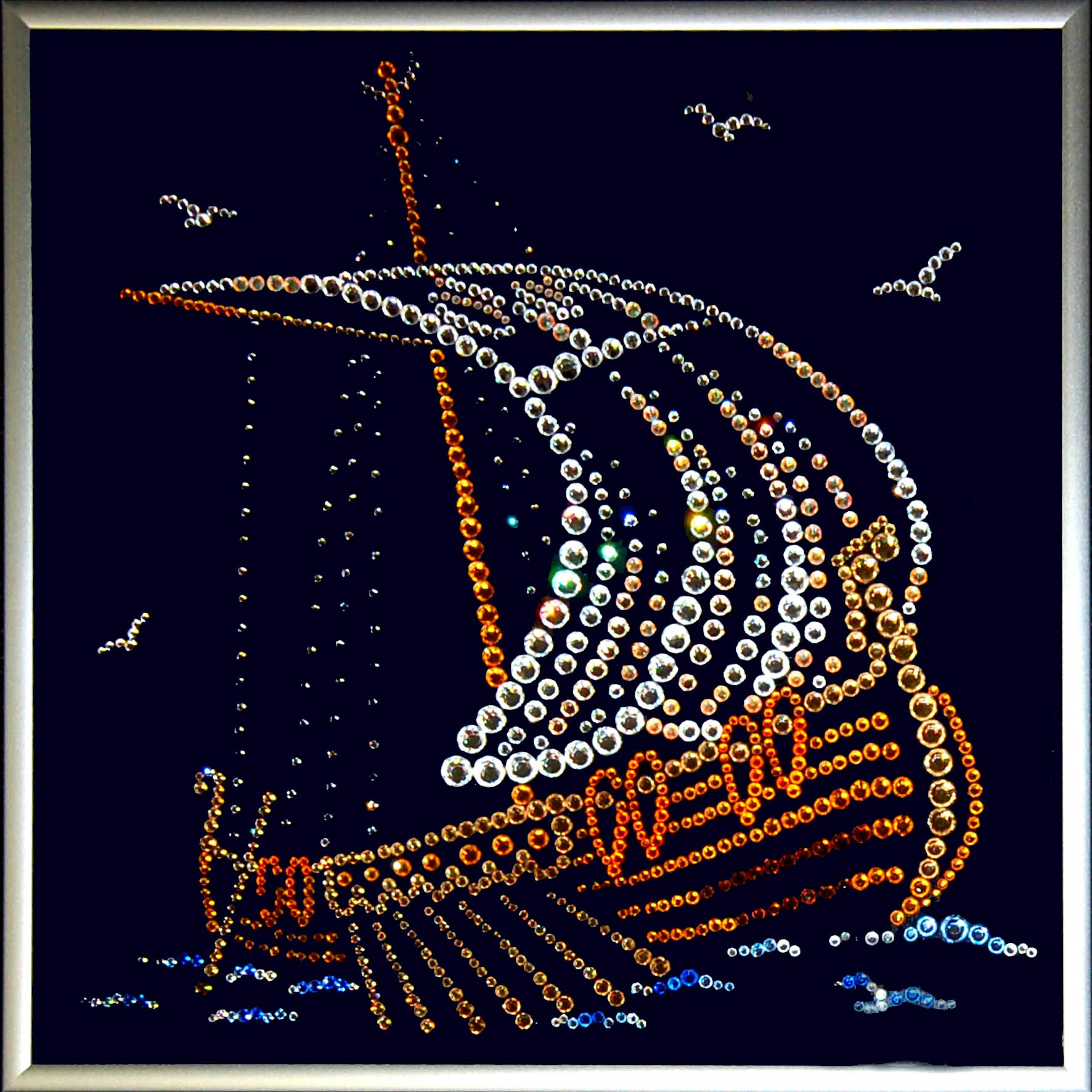 Картина с кристаллами Swarovski Ладья