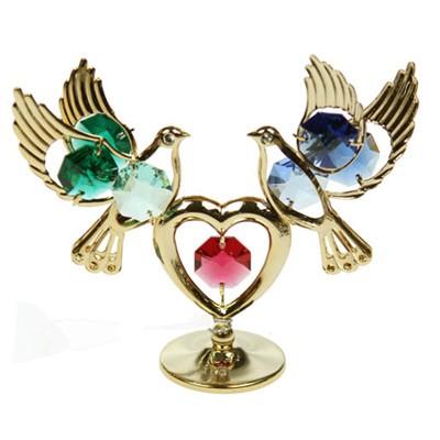 Декоративная фигурка Swarovski «Голуби с сердцем»