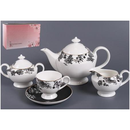 Чайный сервиз «Черный шёлк»