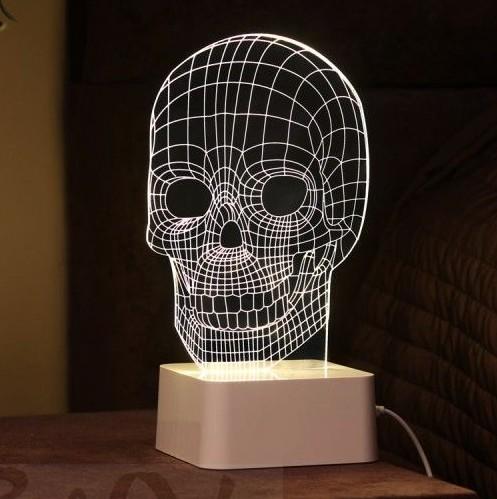 3D-лампа Череп
