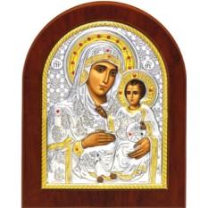 Иерусалимская икона Божьей Матери  в серебряном окладе