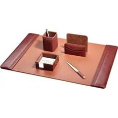 Кожаный настольный набор (5 предметов)