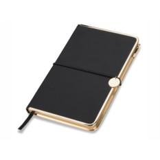 Черный блокнот Golden Rim