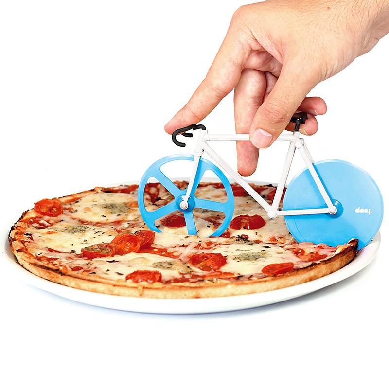 Нож для пиццы Fixie Велосипед, голубой/белый