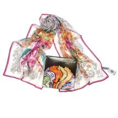 Белый женский шарфик с красивым дизайном Marina D'este