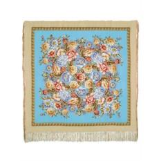 Шелковый платок (крепдешин, бахрома) Берег грёз