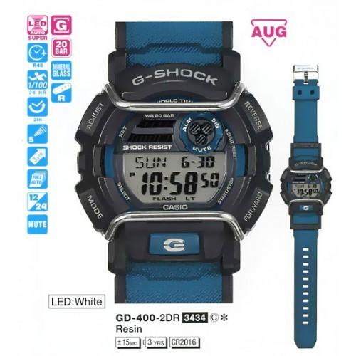 Мужские наручные часы Casio G-Shock GD-400-2E