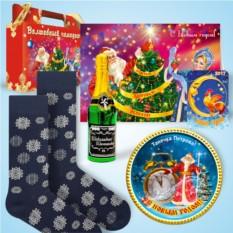 Набор с дизайнерскими носками «Волшебные снежинки»
