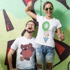 Парные футболки Винни
