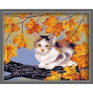Картина по номерам Котенок на дереве
