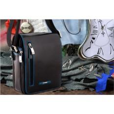 Черная кожаная сумка-планшет Dor.Flinger
