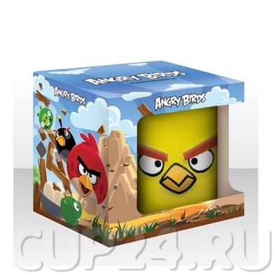 Кружка AngryBirds 300 мл., желтая в коробке