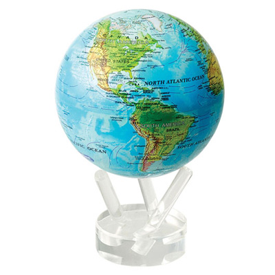 Глобус самовращающийся «Общегеографическая карта»