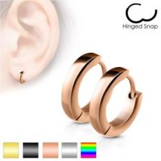 Золотистые серьги-кольца из ювелирной стали Spikes