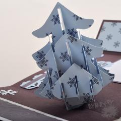 3d открытка Новогодняя елка