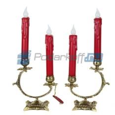 Пара канделябров на 2 свечи Полумесяц (цвет - золото)