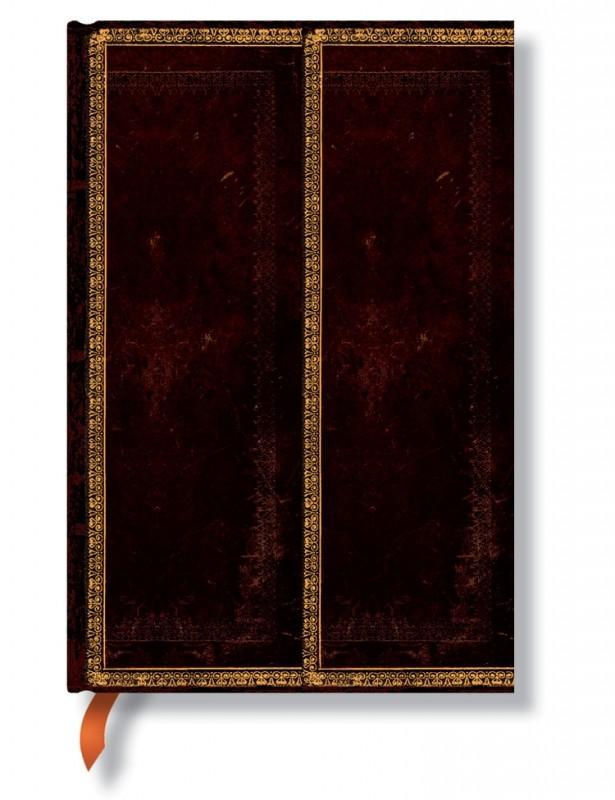 Блокнот Чёрная марокканская кожа mini