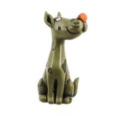 Декоративная фигурка Собака с красным носом