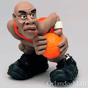 Фигурка Баскетболист чёрный
