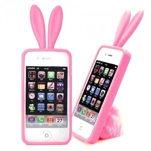 Чехол для iPhone4 Bunny pink