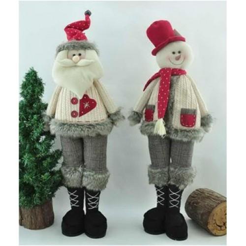 Текстильные фигуры Снеговик и Дед Мороз