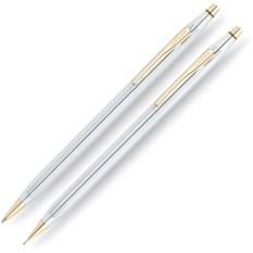 Серебристый набор Cross Сentury classic: ручка и карандаш