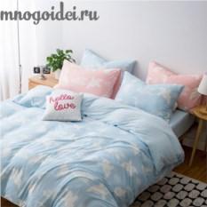 Комплект постельного белья Воздушные сны: голубой