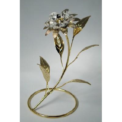 Цветочек с кристаллами Сваровски