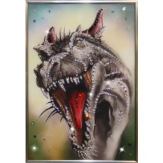 Картина с кристаллами Swarovski Свирепый Дракон